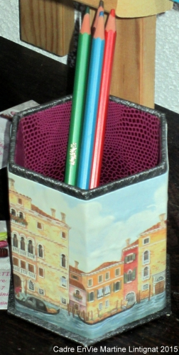 cartonnage facile pot a crayons